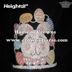 Custom Crystal Rabbit Easter Pageant Crowns