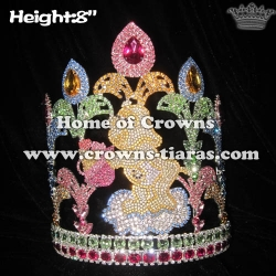 Custom Crystal 8in Height Bear Animal Pageant Crowns