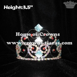 Small Lovely Princess Crowns With Red Rhinestones