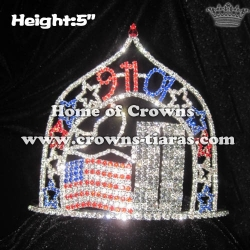 911 Time American Flag Pageant Star Crowns