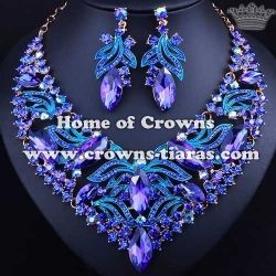 Luxury Crystal Party Necklace Set Jewelry