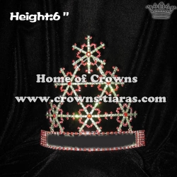 6in Height Crystal Snowflake Pageant Crowns
