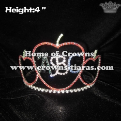 Crystal ABC Apple Crowns---Back to school Pageant Crowns