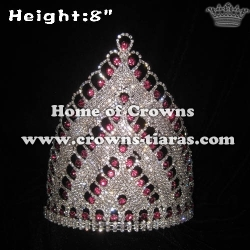8in Height Crystal Pageant Queen Crowns