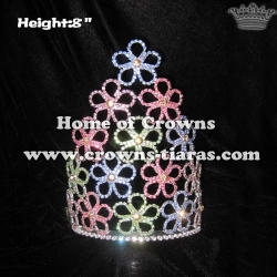 8inch Colored Flower Spring Crowns