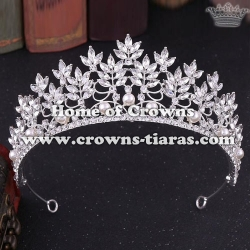 Wholesale Hot Selling Bridal Crowns With Pearls