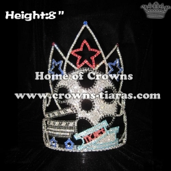 Star Shaped Hollywood Movie Crystal Pageant Crowns