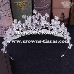 Silver Bridal Tiaras Witj Handmade Beads Around