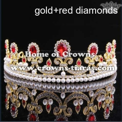 Alloy Wedding Tiaras With Pearl And Round Diamond
