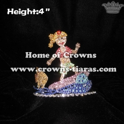 4inch Height Skateboard Girl Summer Crown