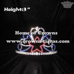 3inch Colored Star Crystal Crowns--Forth Of July