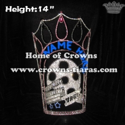14in Big Tall Hollywood Movie Star Custom Crystal Crowns