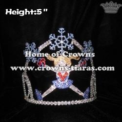 Crystal Princess Cheerleader Crowns With Snowflakes