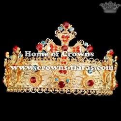 Gold Wedding Tiaras With Colored Diamonds