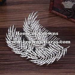 Crystal Wedding Hair Tiars With Combs