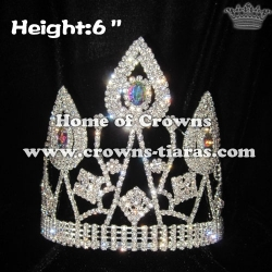 Hot Selling Crystal Queen Crowns With Big AB Diamond
