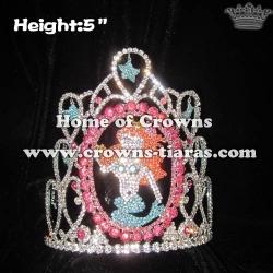 Wholesale Crystal Mermaid Ariel Pageant Crowns