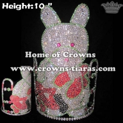 Teddy Bear With Snowflake Winter Christmas Pageant Crowns