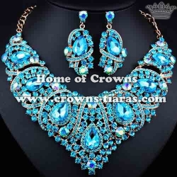 Fashion Unique Crystal Bridal Necklace Set