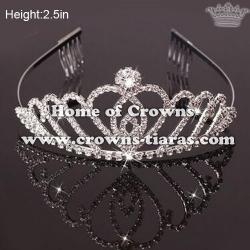 Wholesale Crystal Small Princess Crowns