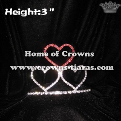 Rhinestone Heart Shaped Pageant Crowns and Tiaras