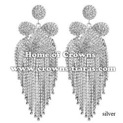 Fashion Large Big Rhinestone Party Earrings