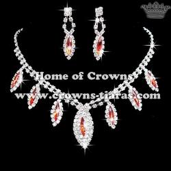 Fashion Crystal Blue Diamond Necklace Sets