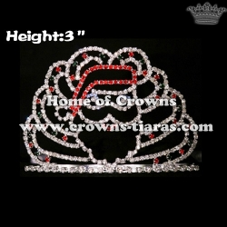3inch Crystal Wholesale Santa Claus Christmas Crowns