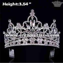 Wholesale Diamond Butterfly Pageant Crowns With combs