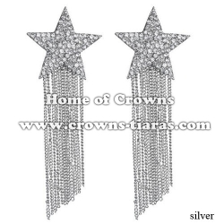 Alloy Crystal Star Shaped Party Earrings