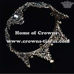 Wholesale Crystal Full Round Bridal Queen Crowns