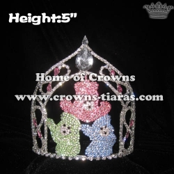 Crystal Three Little Bear Pageant Animal Crowns
