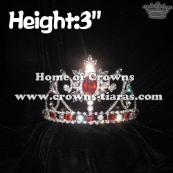 3in Height Small Crystal Princes Crowns