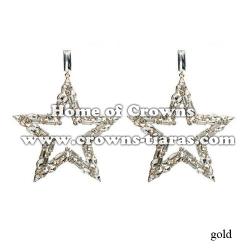 Wholesale Star Shaped Crystal Earrings