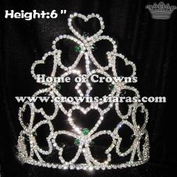 Wholesale Crystal Shamrock Crowns
