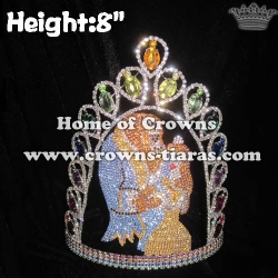 Crystal Custom Beauty and Beast Pageant Crowns