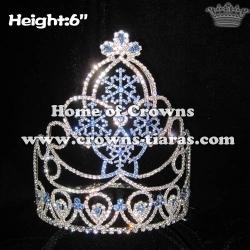 Crystal Snowflake Rhinestone Crowns
