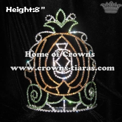 Wholesale 8inch Height Pumpkin Crowns