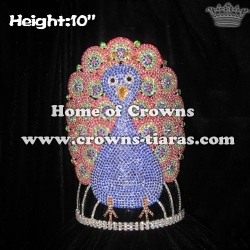 10in Height Custom Peacock Pageant Crowns