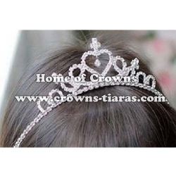 Crystal Rhinestone Stock Children Baby Tiaras