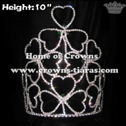 10inch Shamrock Clovers Crowns Crystal Big Crowns