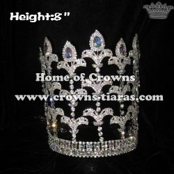 8inch Fleur De Lis Crowns With Adjustable band