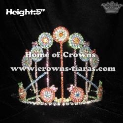 Custom Crystal Rhinestone Lollipops Crowns