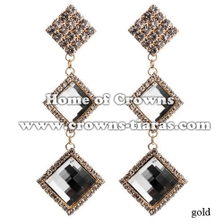 Fashion Crystal Earrings With Square Diamonds