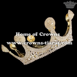 Gold Pageant Queen Crowns Diana Queen Crowns