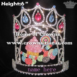 Custom Crystal Cupcake Crowns With Big Diamonds