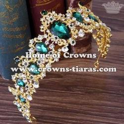 Unique Princess Party Tiaras With Blue Diamonds