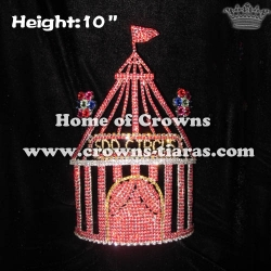 Custom Crystal Rhinestone Circus Tent Pageant Crowns