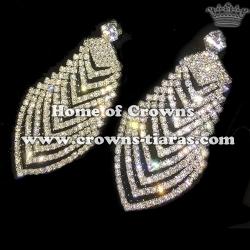 Wholesale Queen Rhinestone Bridal Earrings