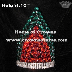 10in Crystal Diamond Wholesale Christmas Lighting Up Crowns